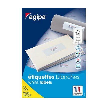 agipa Etiquettes multi-usage, 51 x 33,8 mm, coins droits