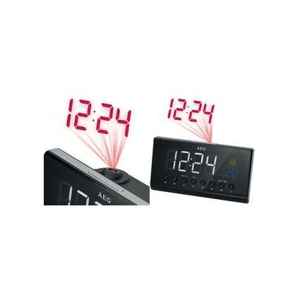 AEG Radio-réveil UKW/PLL MRC 4141, écran LED, noir