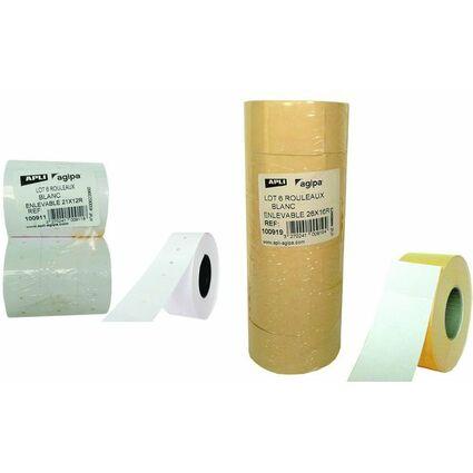 agipa Etiquettes pour étiqueteuse, 26 x 16 mm, enlevable