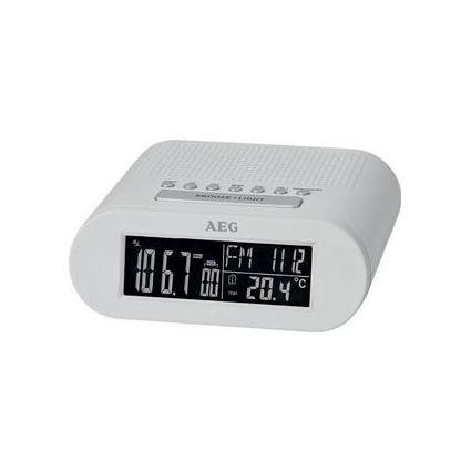 AEG Radio-réveil MRC 4145 F, affichage LED, blanc
