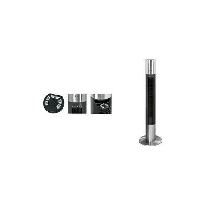 AEG Ventilateur tour T-VL 5537, avec minuterie, noir/acier