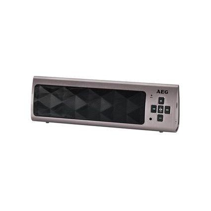 AEG Haut-parleur Bluetooth mobile BSS 4818, titane