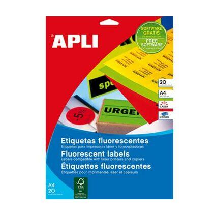 agipa Etiquettes adresse, 64 x 33,9 mm, jaune fluo
