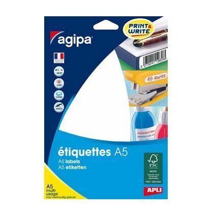 agipa Étiquettes multi-usage, 210 x 148 mm, blanc