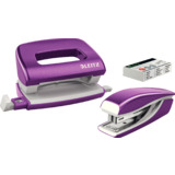 LEITZ kit mini agrafeuse et perforateur Nexxt WOW, violet