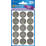 "AVERY zweckform ZDesign oster-sticker ""Buttons"""