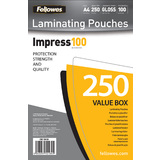 Fellowes pochettes à plastifier, format A4, 200 mu, Value