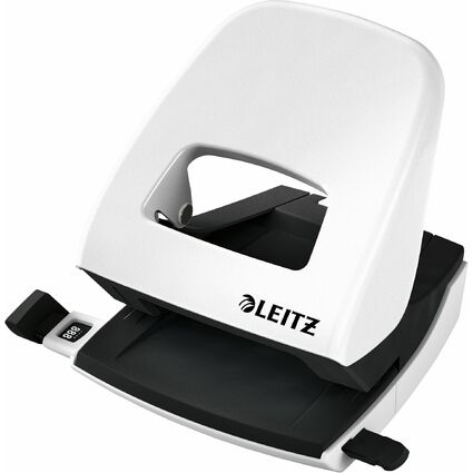 LEITZ Perforateur Nexxt 5008, en bte carton, blanc perle