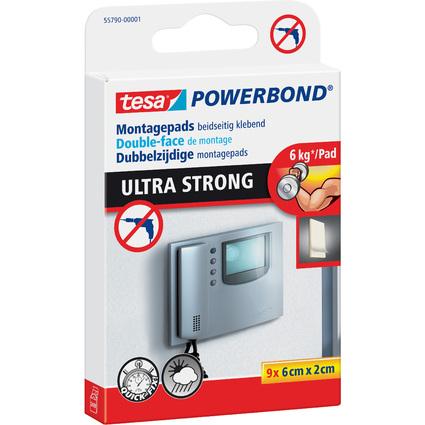 tesa Pastilles adhésives Powerbond double face, 20 x 60 mm