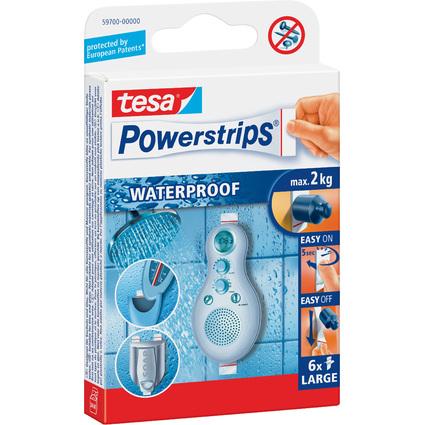 tesa Powerstrips Pastille adhésive LARGE WATERPROOF, blanc