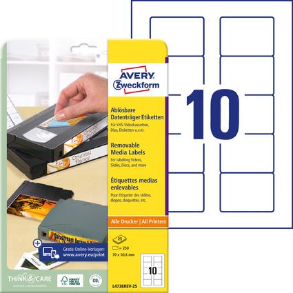 """AVERY Zweckform Etiquette Stick+Lift pour disquettes 3,5"""""""