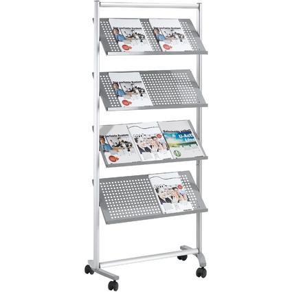 FRANKEN Porte-brochures PRO, 12 x A4, hauteur: 1.680 mm