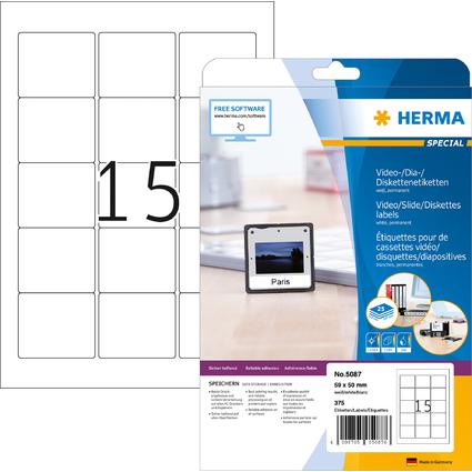 HERMA Etiquette pour disquettes-ZIP SPECIAL, 59 x 50 mm