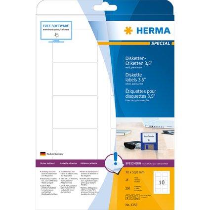 """HERMA Etiquette pour disquettes 3,5"""" SPECIAL, 70 x 50,8 mm"""