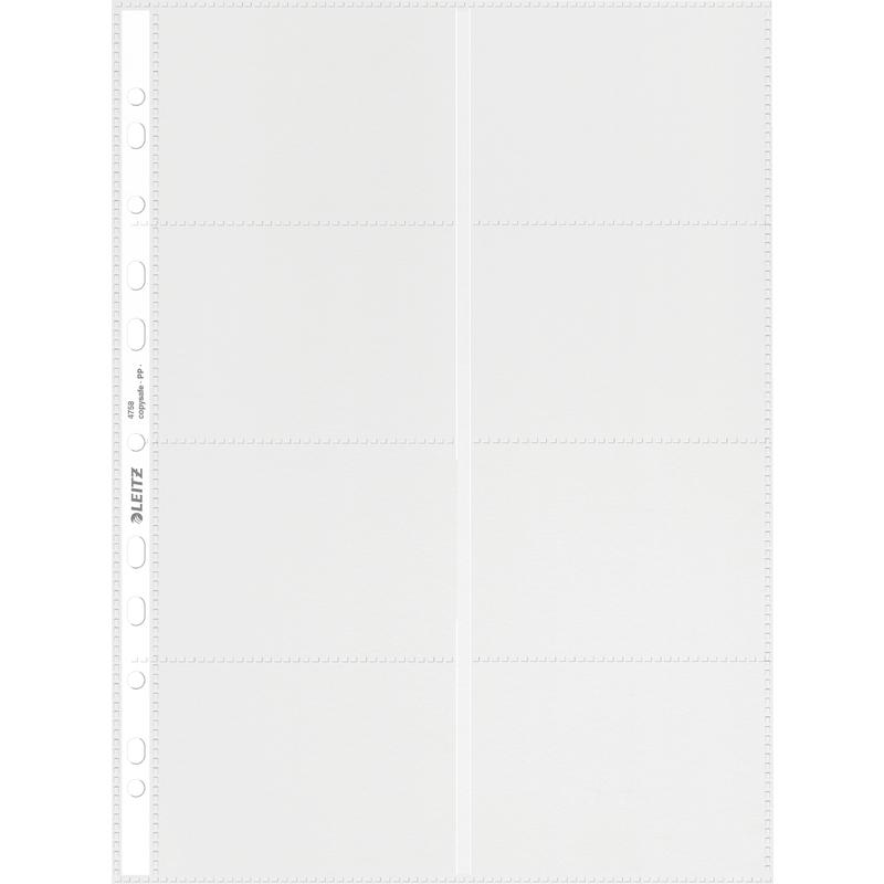 LEITZ Pochette Perfore Pour 16 Cartes De Visite Format A4