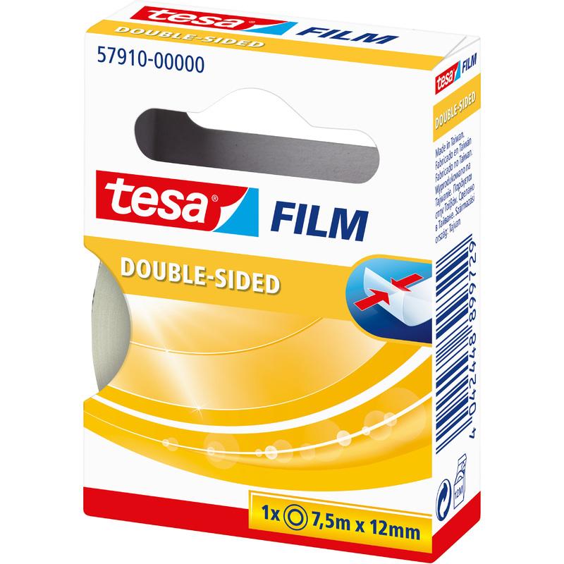 12 mm x 7,5 m TESA Ruban adh/ésif double face transparent