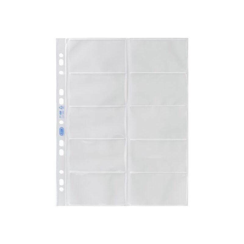 ELBA Pochette Pour Cartes De Visite Format A4 PP 009 Mm