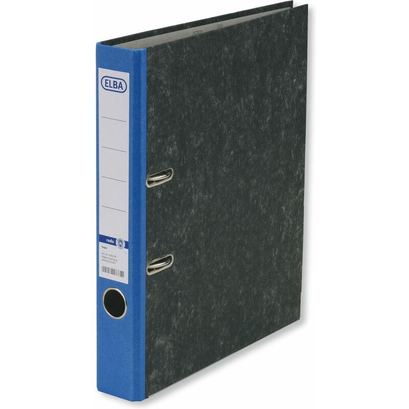 elba classeur rado marbr nuageux dos 50 mm bleu 100023241 bei g nstig kaufen. Black Bedroom Furniture Sets. Home Design Ideas