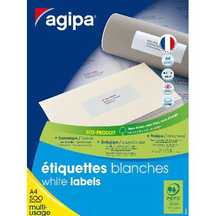 agipa étiquettes multi-usage, 70 x 35 mm, blanc