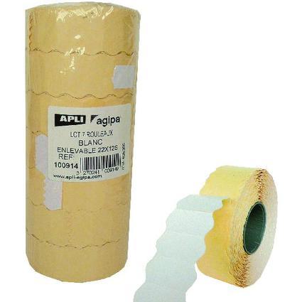 agipa Etiquettes pour pince, 22 x 12 mm, enlevables,