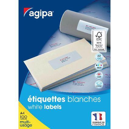 agipa Etiquettes multi-usage, 63,5 x 72 mm, blanc