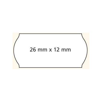 agipa Etiquettes pour pince, coins arrondis, 26 x 12 mm